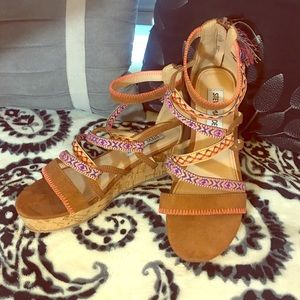 Steve Madden Big Girl's Sandal Wedges 4
